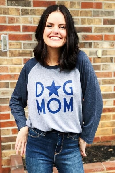 Vintage Soul Dog Mom Star Raglan