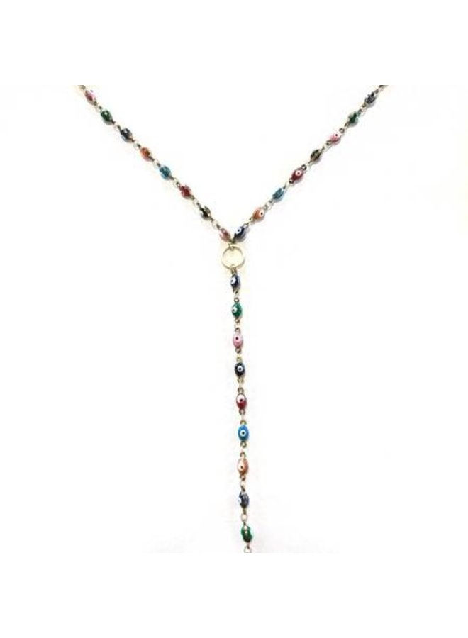 Evil Eye Multi Color Lariat