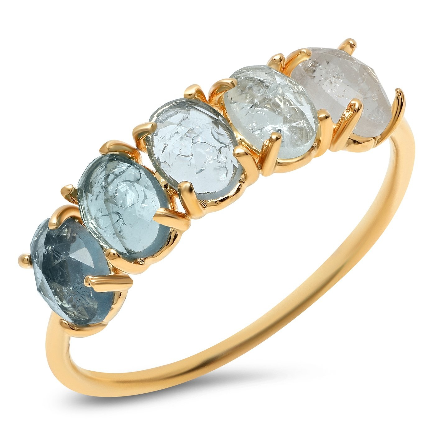Tai March Ombre Birthstone Ring