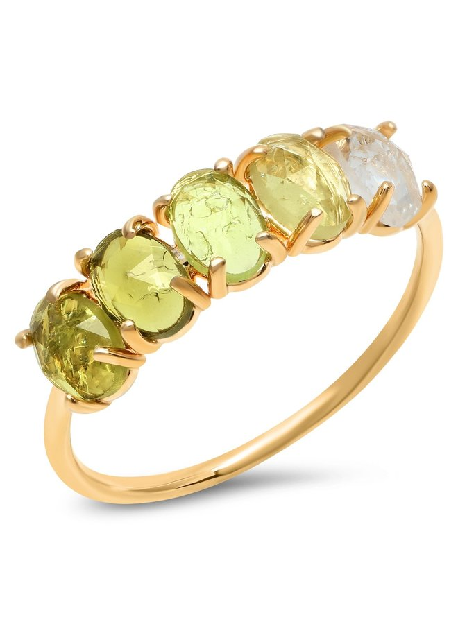 August Ombre Birthstone Ring