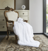 Duke Imports Inc. Pure White Faux Fur Throw