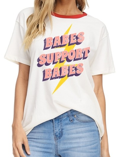 Zutter Babes Support Babes Tee -