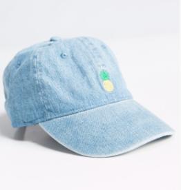 Fashionomics Denim Pineapple Hat