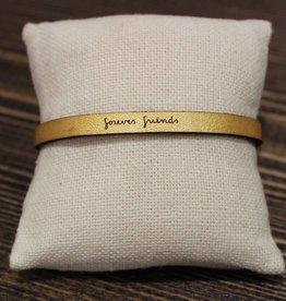 """Laurel Denise Gold """"Forever Friends"""" Leather Bracelet"""