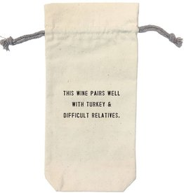 Sugarboo Designs This Wine Pairs Well Wine Bag