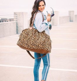 Small Town Society Avery Leopard Weekender Bag