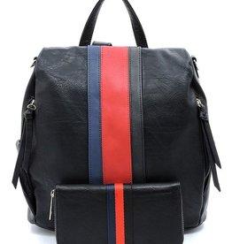 Pjee Handbags Ireland Convertible Backpack - Black