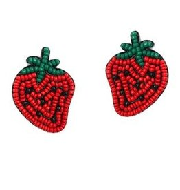 Golden Stella Strawberry Earrings