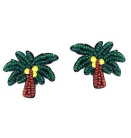 Golden Stella Palm Tree Earrings