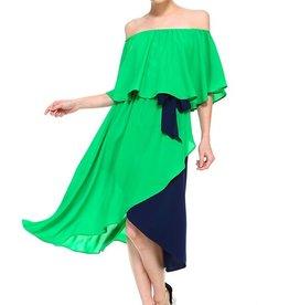 TCEC Flounce Midi Dress