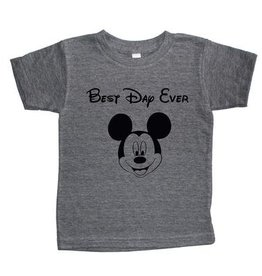 T's and Tots Infant Best Day Ever Light Grey Tee