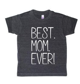 T's and Tots 6T Best Mom Ever Dark Grey T-Shirt
