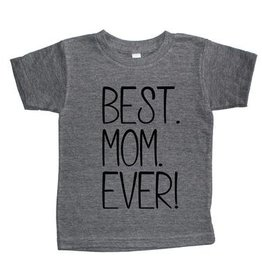 T's and Tots 4T Best Mom Ever Light Grey T-Shirt
