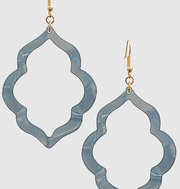Bijoux USA Acetate Quatrefoil Fish Hook Drop Earrings