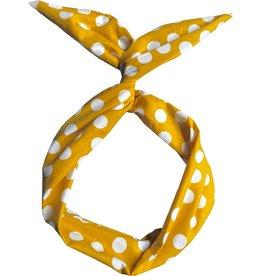 Byrd Byrd Headband - Yellow Polka Dot