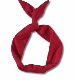 Byrd Byrd Headband - Red Linen