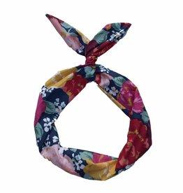 Byrd Byrd Headband - Navy Floral