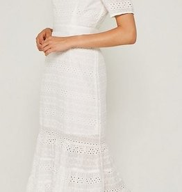 Hayden Los Angeles Eyelet Ruffle Maxi Dress