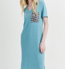 First Love Leopard Pocket Midi Dress