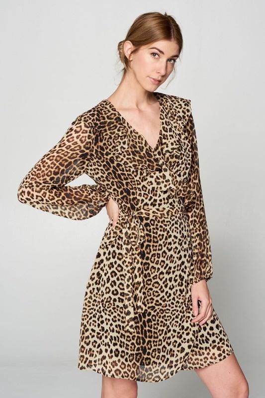 Ellison Leopard Flirty Dress
