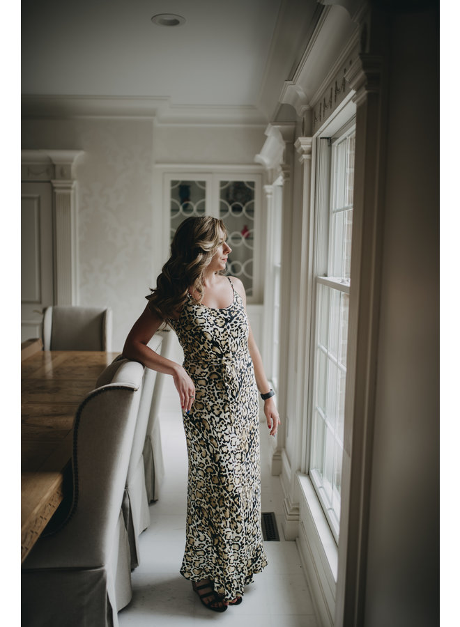 Leopard Midi Cami Dress