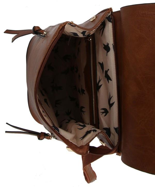 Pjee Handbags Side Zip Coco Convertible Backpack