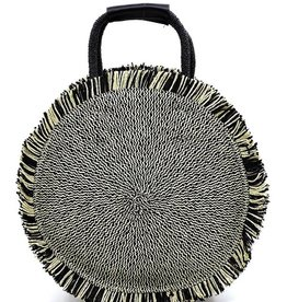 Pjee Handbags Straw Round Shopper