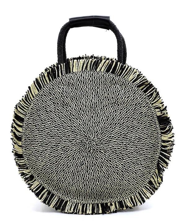 Pjee Handbags Straw Round Shopper
