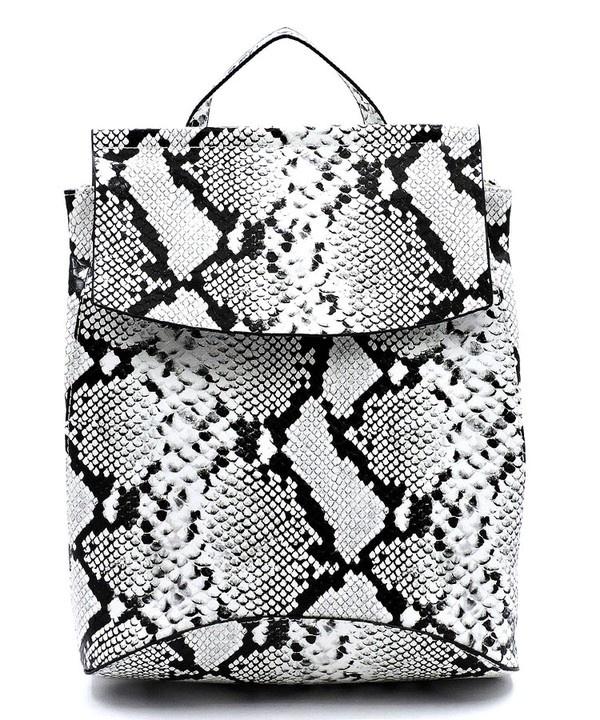 Pjee Handbags Python Convertible Backpack