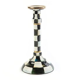 MacKenzie-Childs Courtly Check Enamel Candlestick- Mighty