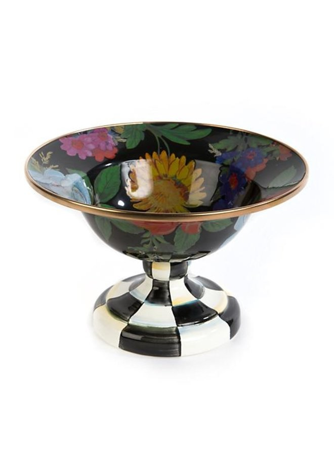 Flower Market Small Compote-Black