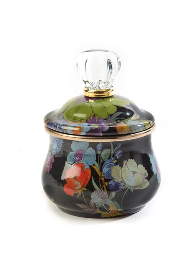 Flower Market Sugar Bowl- Black