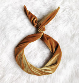 Byrd Byrd Headband-Gold Velvet