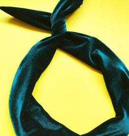 Byrd Byrd Headband-Emerald Velvet
