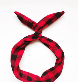 Byrd Byrd Headband-Red/Black Buffalo Plaid