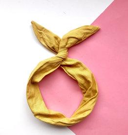 Byrd Byrd Headband - Mustard Linen