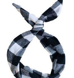 Byrd Byrd Headband-Black/White Buffalo Plaid