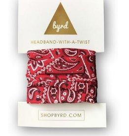 Byrd Byrd Headband - Red Bandana