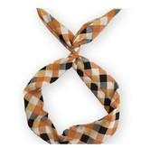 Byrd Byrd Headband-Orange/Black Plaid