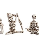 Creative Co-Op Yoga Skeletons-Set of 5