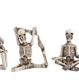 Creative Co-Op Yoga Skeletons-Set of 5