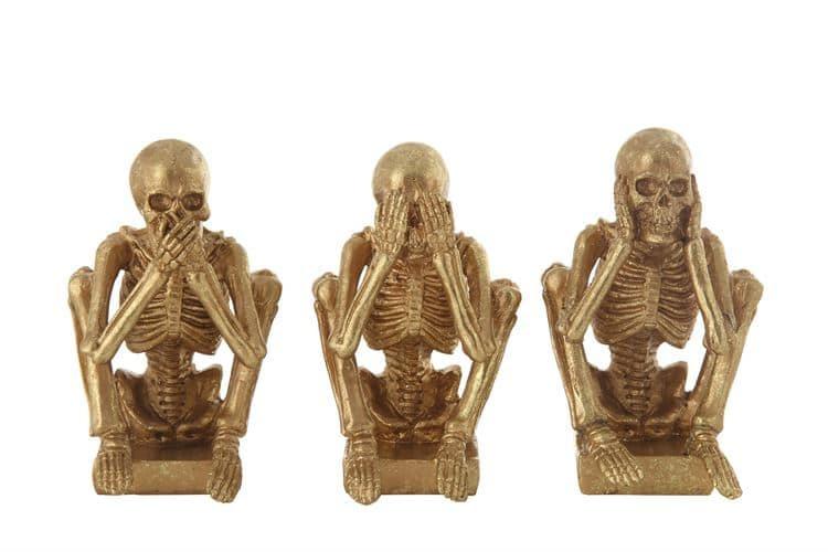 Creative Co-Op Skeleton Hear No See No Speak No Evil Set