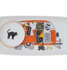 Creative Co-Op Oil and Bread Fall Pumpkin Tray