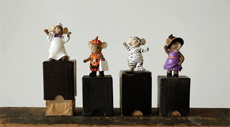 Creative Co-Op Set of Mice in Costume