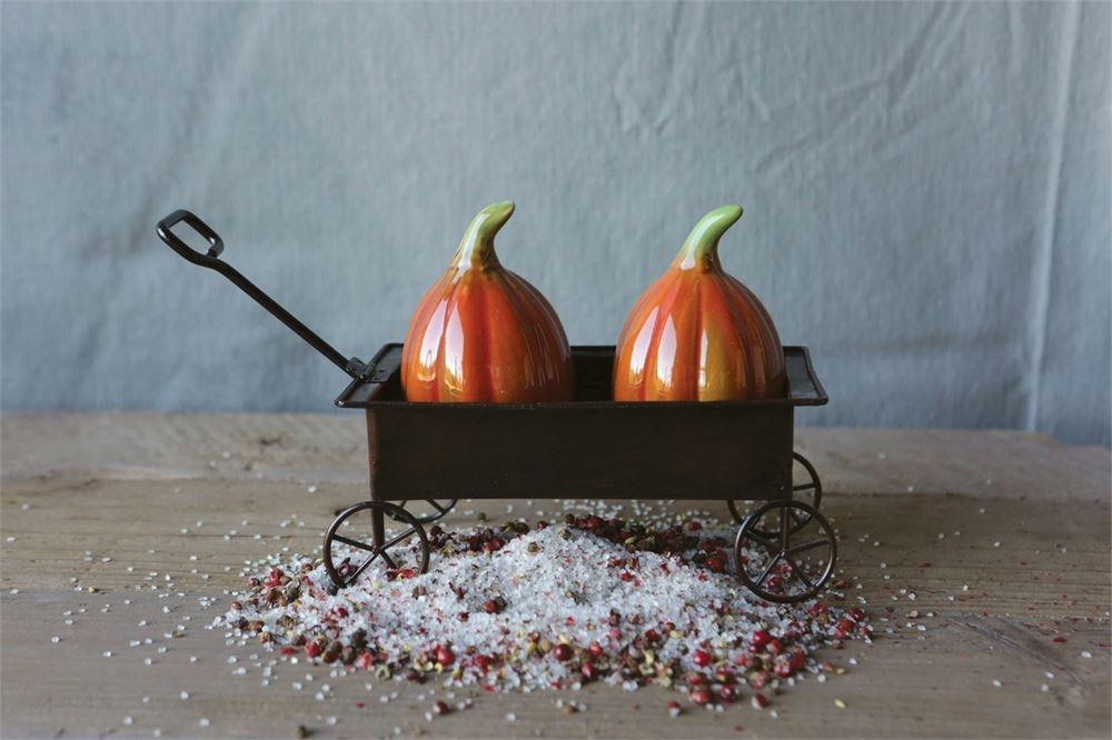 Creative Co-Op Ceramic Pumpkin Salt & Pepper Shakers