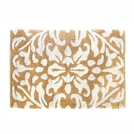 MacKenzie-Childs Canterbury Bath Rug-Ochre