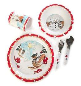 MacKenzie-Childs Toddler Dinnerware Set-Nutkin Manor