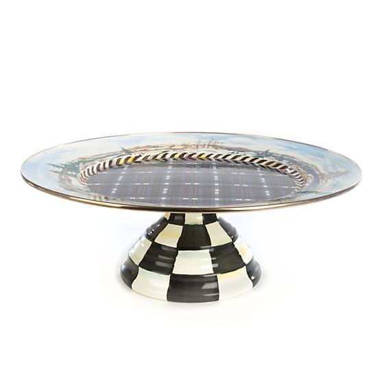 MacKenzie-Childs Highbanks Pedestal Platter - Large