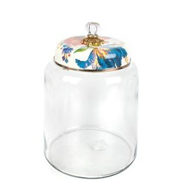 MacKenzie-Childs Flower Market Storage Canister White- Bigger