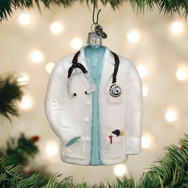 Old World Christmas Doctor's Coat Ornament